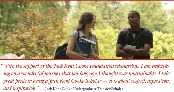 Jack Kent Cooke Scholarship